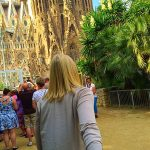 Picture of leading husband to Sagrada Familia Barcelona Spain
