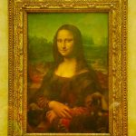 Picture of Mona Lisa in Louvre Museum Paris