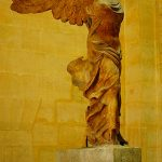 Picture of Winged Victory Nike inside Louvre Museum Paris