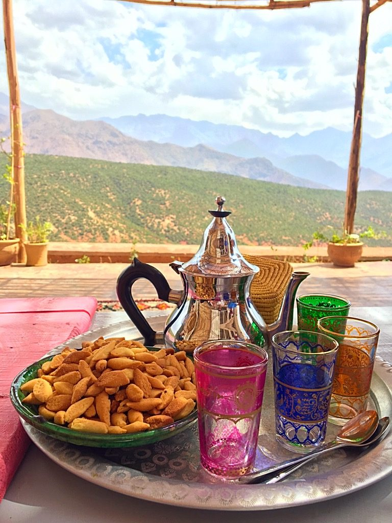 Picture of Moroccan Tea and cookies in Atlas Mountains Morocco