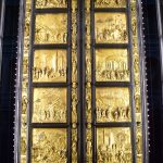 Picture of the real gold baptistry doors in Florence Duomo Museum