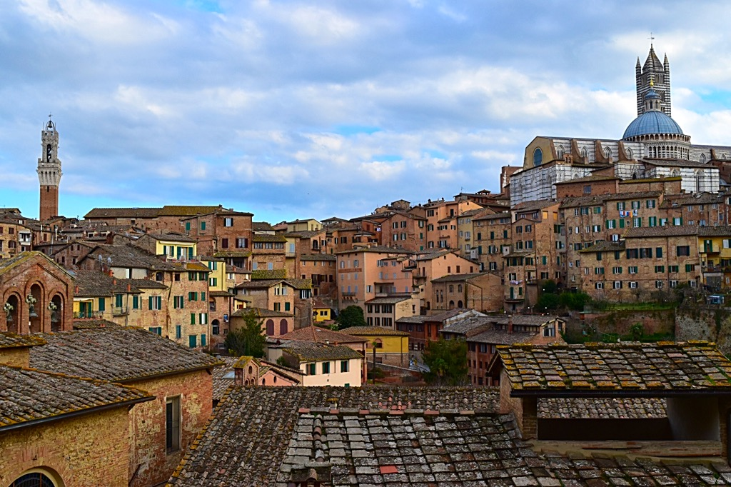 Picture of Siena Italy landscape view