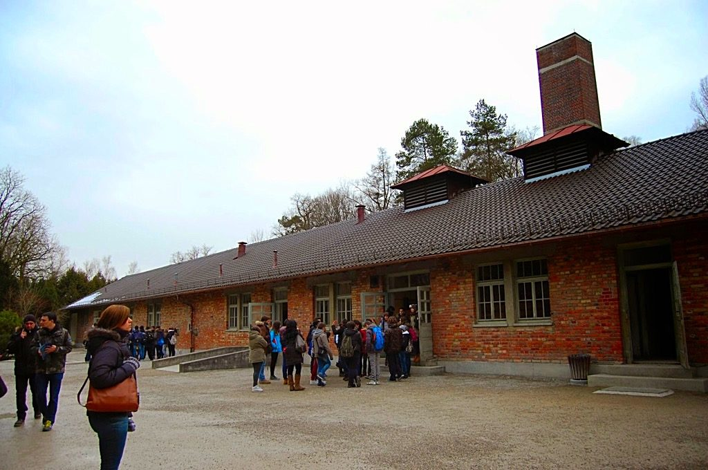 Picture of the Dachau Concentration Camp crematory