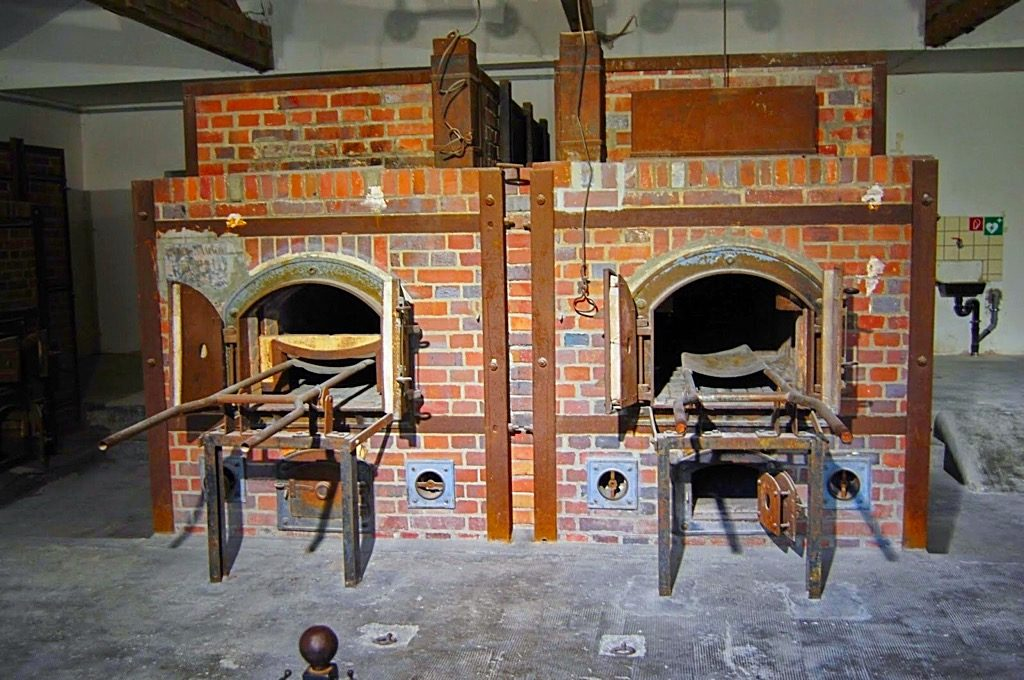 Picture of crematory ovens at Dachau Concentration Camp