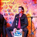 Picture of cajon box drum at Son Amar Flamenco show Mallorca