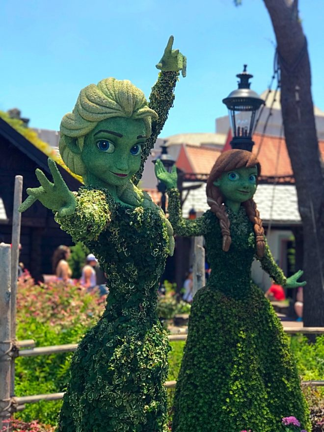 Picture of Elsa greenery at Epcot Flower and Garden Festival