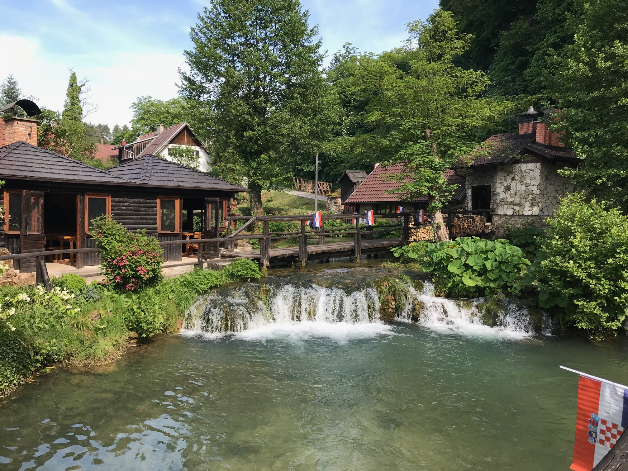 Picture of restaurant on the water in Rastoke