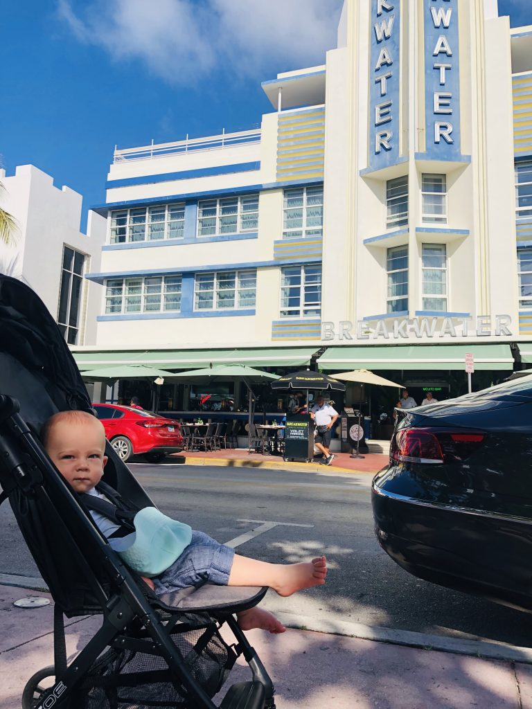 Picture of baby on Ocean Drive Miami
