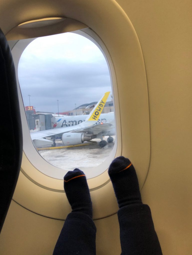 Picture of Baby Feet on Plane